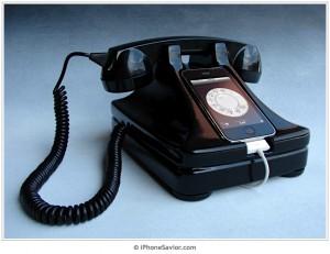 黒電話風iPhoneドック