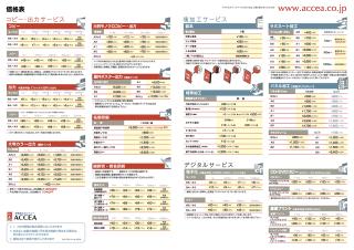 ACCEA価格表