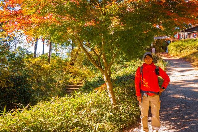 高尾山から「もみじ台」に向かう坂