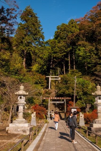天園ハイキングコースに建長寺から登る