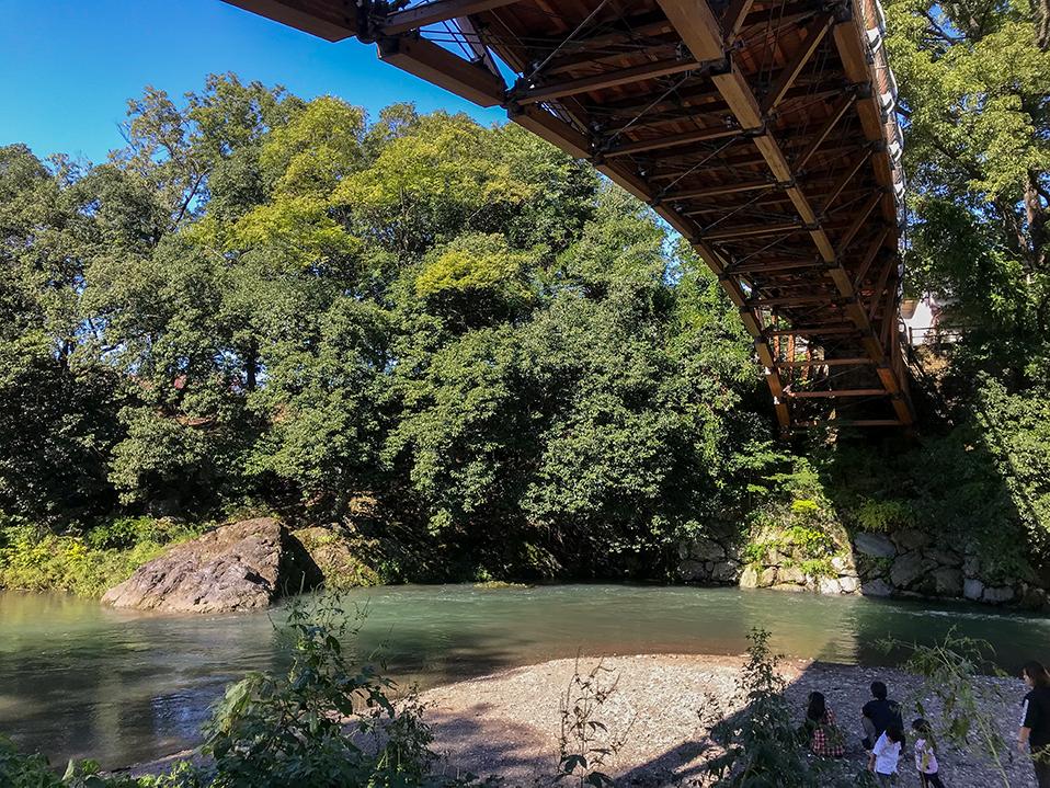 高麗川にかかる「あいあい橋」