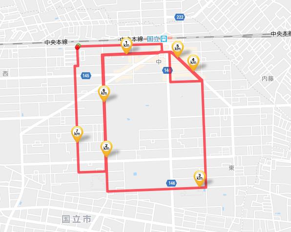 GPSランニングアート