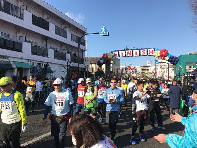 青梅マラソンのフィニッシュゲート