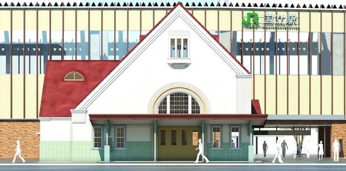 国立駅の旧駅舎「三角屋根」