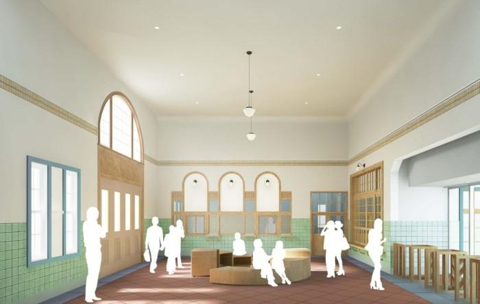 国立駅の旧駅舎の内部