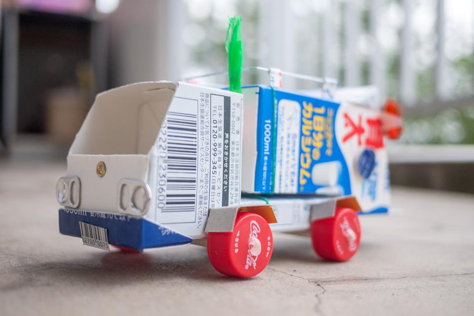 「ゴミ収集車」の正面