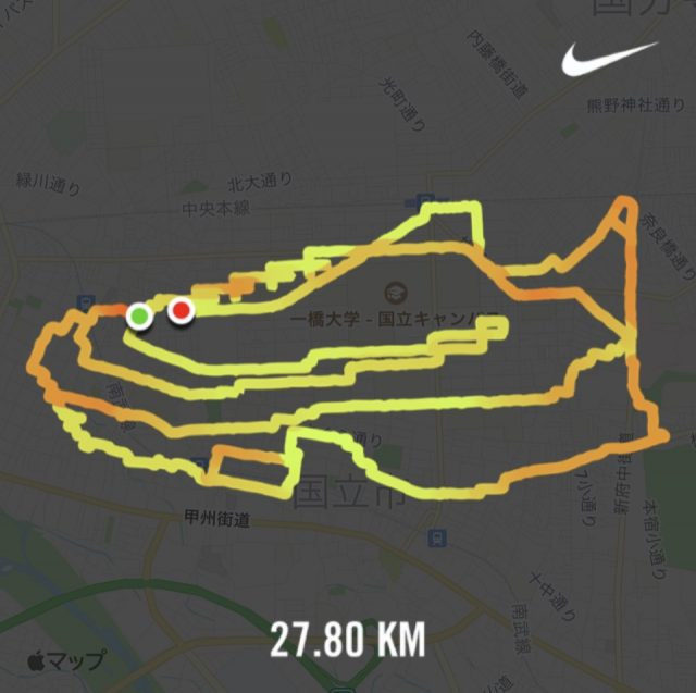 "GPS RUN ""NIKE Air Zoom Alphafly Next%"""