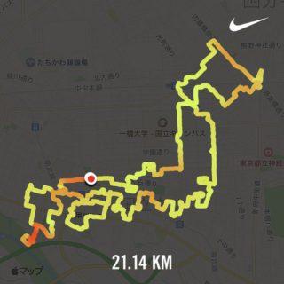 日本地図のランニングアート