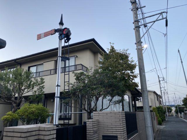 鉄道信号のある家