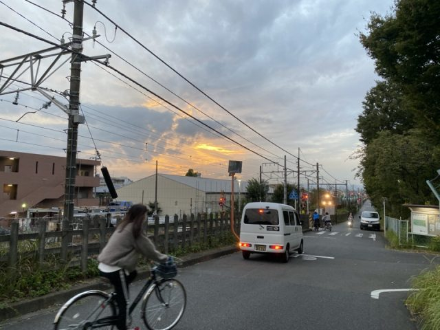 矢川駅に向かう道路