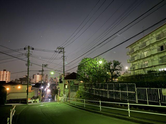 内藤二丁目児童公園の坂道