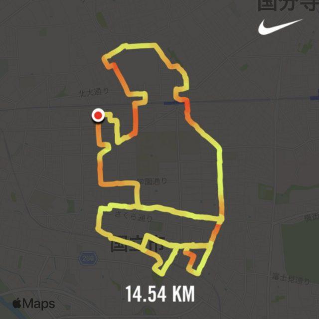 Nike Run Clubで描いたランニングアート