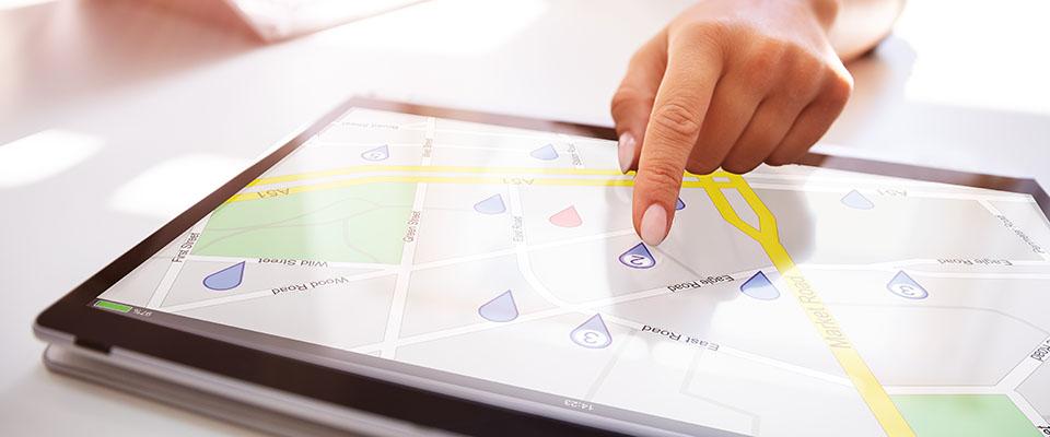 地図のスクリーンショットを保存