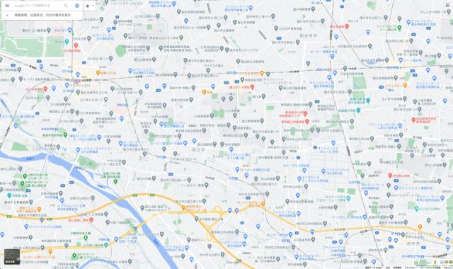 地図のスクリーンショット