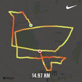 Nike Run Club で描いたランニングアート