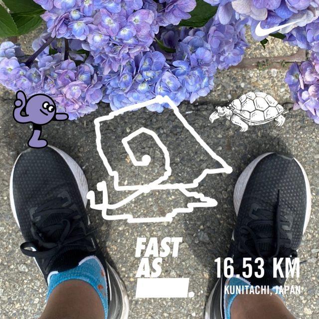 Nike Run Clubの絵かきラン画像