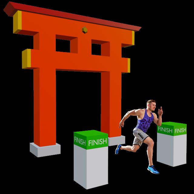 京都マラソンAR完走ゲート