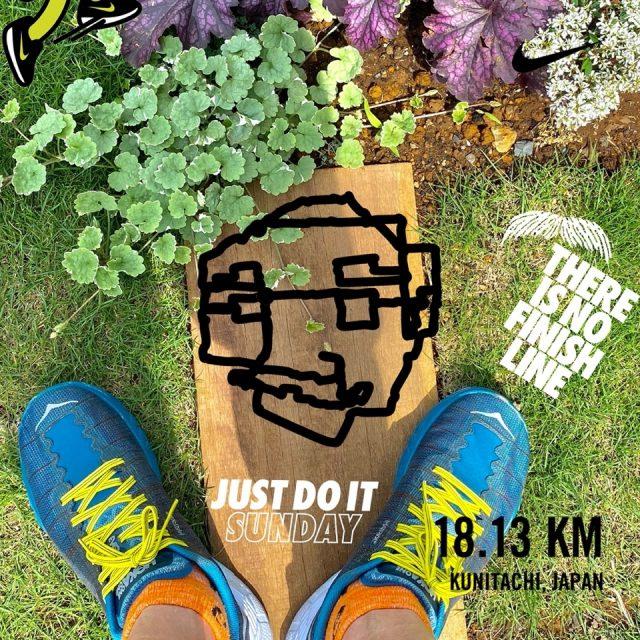 Nike Run Clubでシェアしたお爺さんの顔マラソン