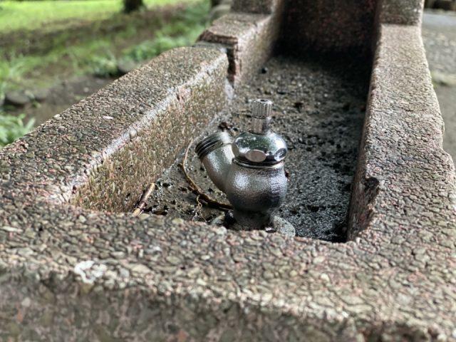 国立市の公園の水飲み場